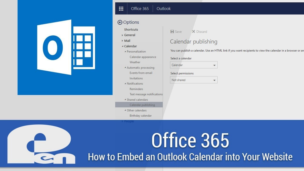 how to embed an outlook calendar into your website office 365 office365 web page calander
