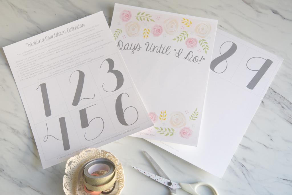 kb photography our blog freebies a printable wedding printable wedding countdown calender