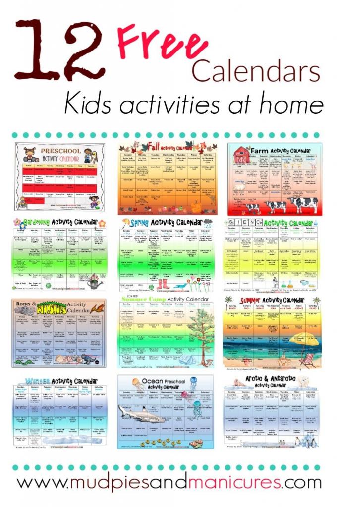 kids activities calendar all things kids kids activities make your own kids calendar free