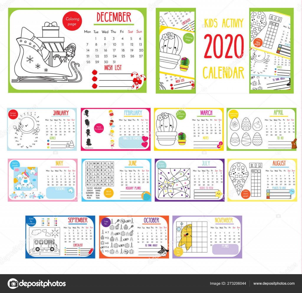 Kids Activity Calendar 2020 Annual Calendar With Kids Activities Calendar Template