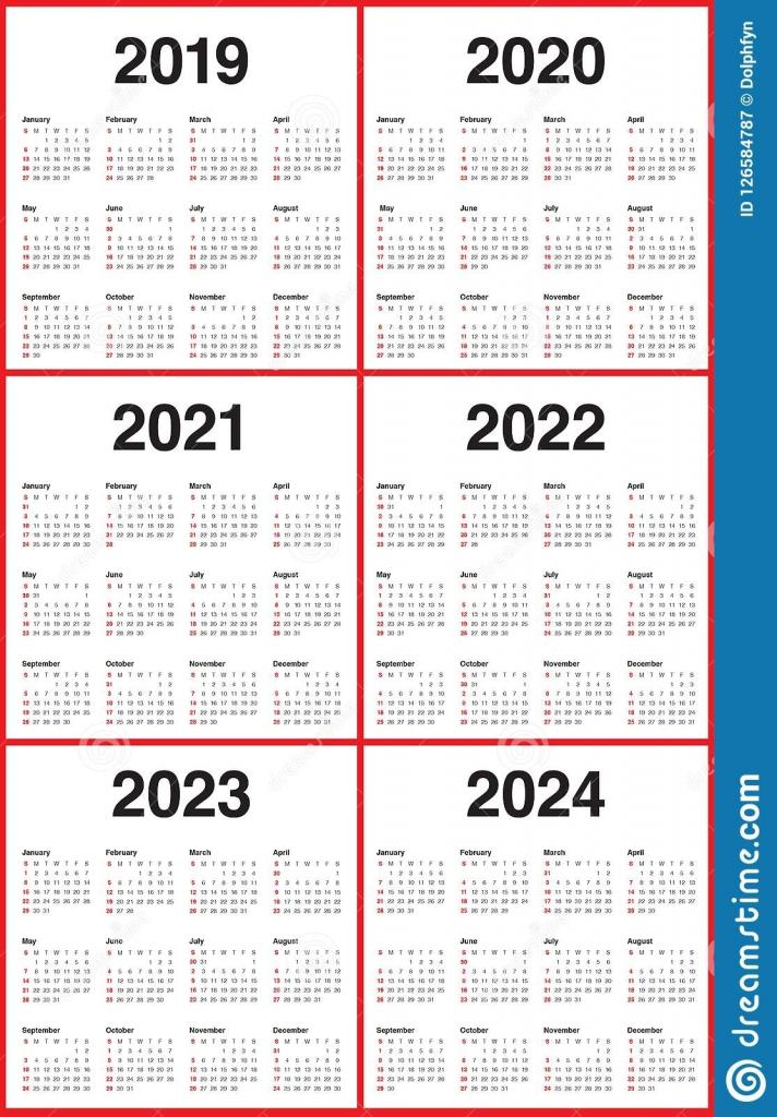 lovely 3 year calendar 2022 to 2024 mini calendar template 5 yea calender