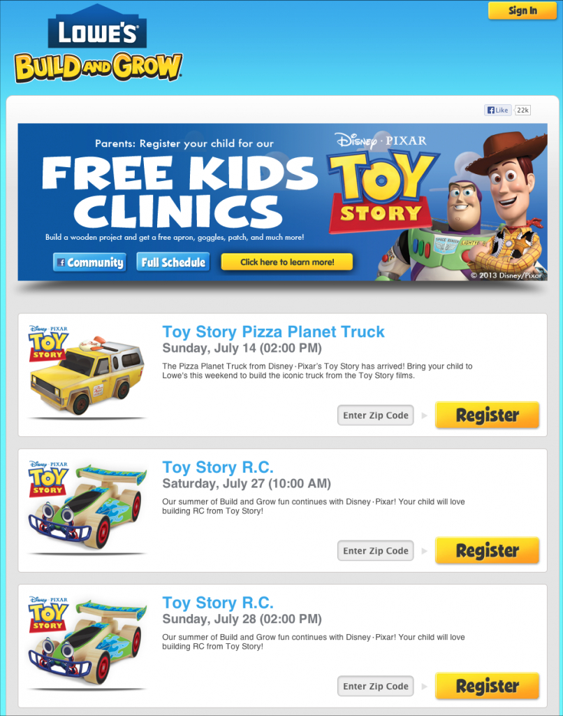 lowes build and grow pizza planet truck and rc pixar post lowes build and grow schedule 2020