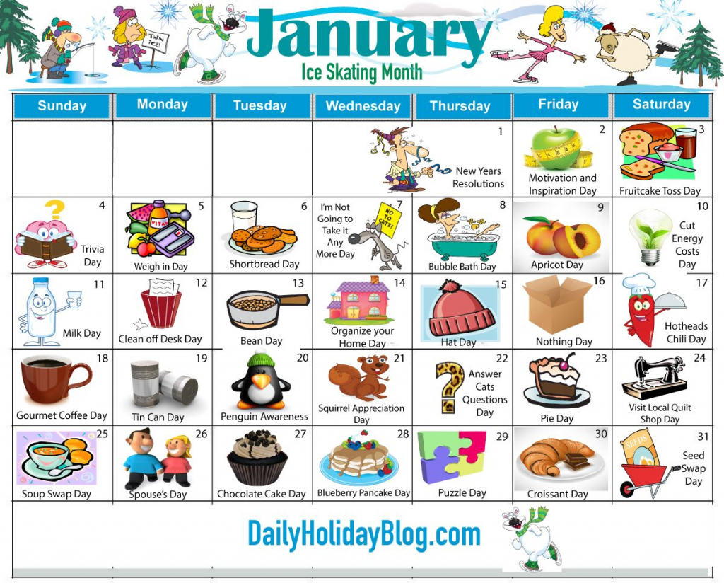 obscure holidays monthly calendars make every day a holiday free printable wacky holiday calendar