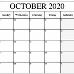 October 2020 Calendar Pdf Word Excel Template Monday To Friday 2020 October Calendar