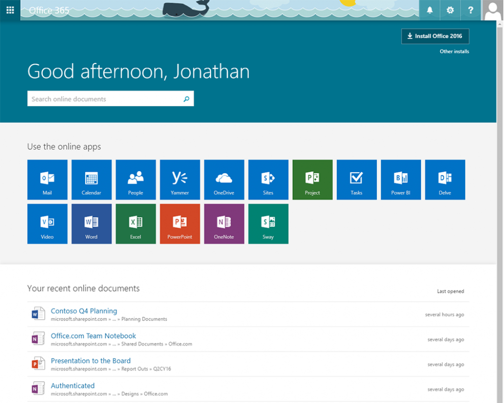 office 365 office365 web page calander