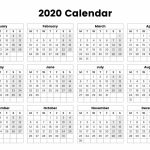 One Page Yearly Calendar 2020 Printable Cute 2019 10 000 Year Calendar Printable