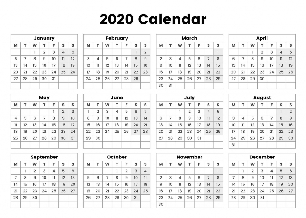 one page yearly calendar 2020 printable cute 2019 10 000 year calendar printable