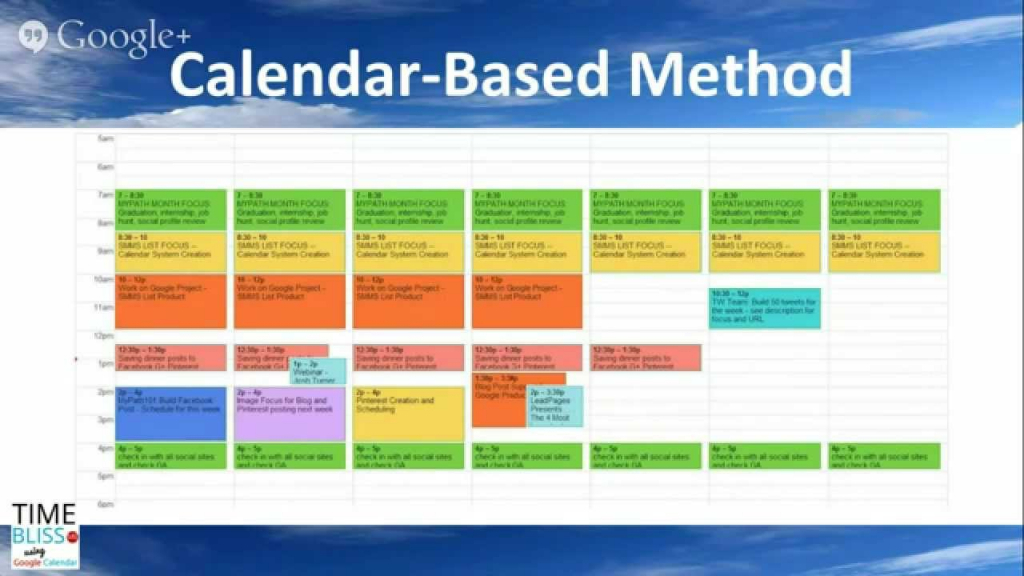 powerful and practical google calendar based time management strategies w phyllis khare time management calendar