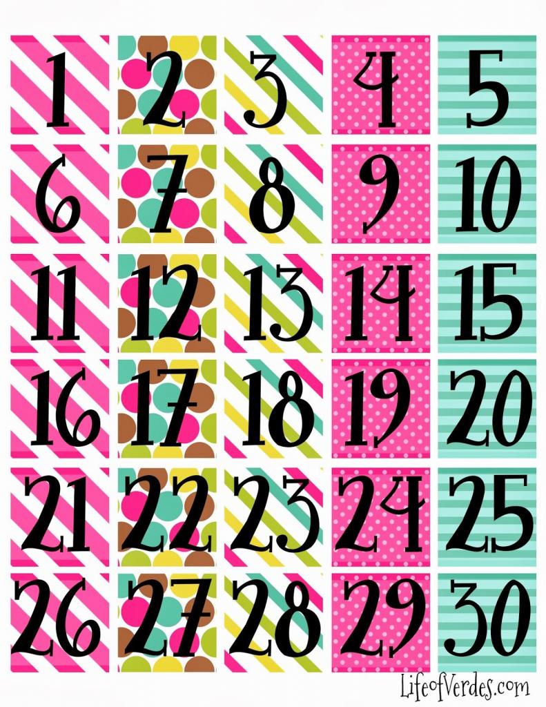 print calendar numbers free calendar numbers free www preschoolprintables com calender numbers