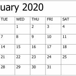 Print January 2020 Calendar Template 12 Month Printable Free Printable Calendars 2020 Waterproof