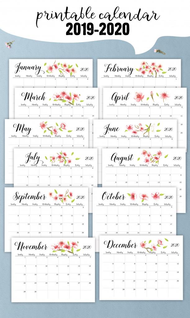 printable 2019 2020 school year calendar floral desk printable calendar numbers to download for teachers