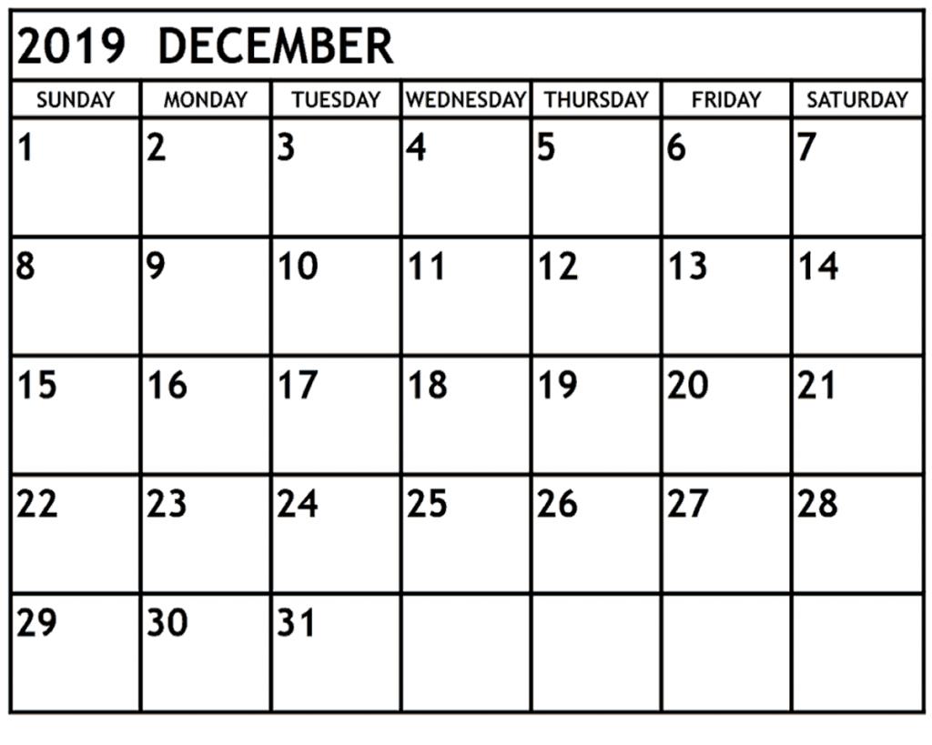 printable december 2019 calendar waterproof paper free printable calendars 2020 waterproof