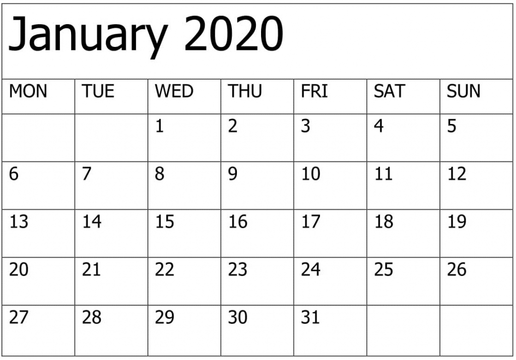 Printable January 2020 Calendar Editable Pages Free Latest Yahoo Free Printable Calendar 2020 That You Can Type In