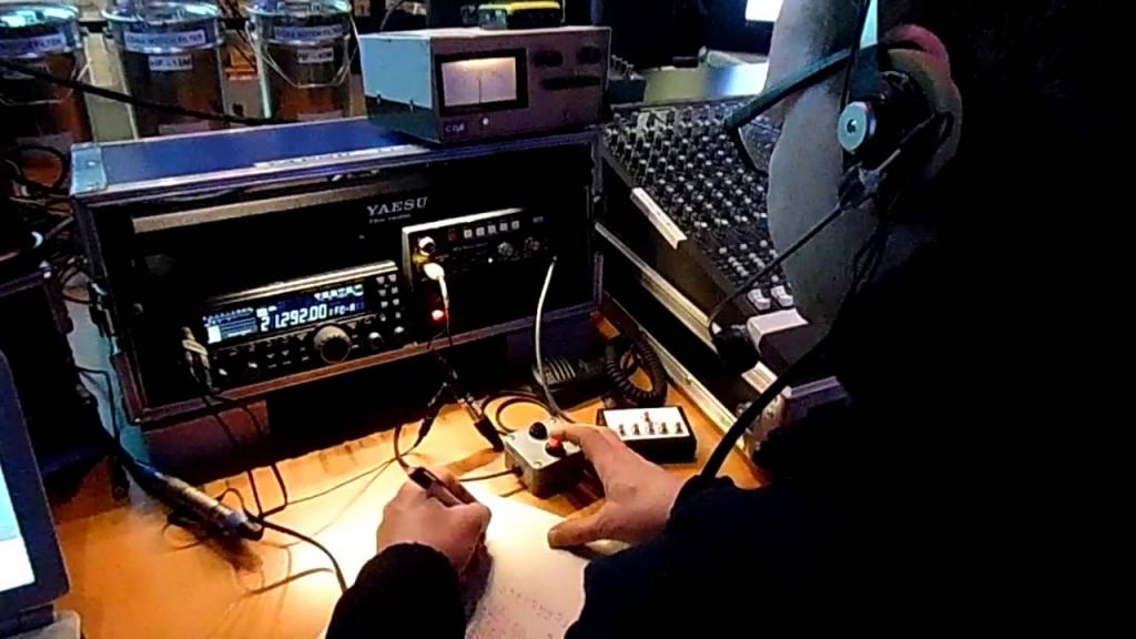 radio amateur short wave hf contest at dekkershoek the netherlands amaeteru radio contest