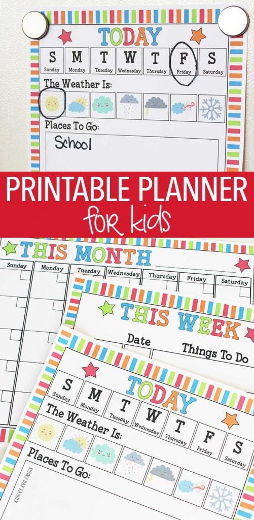 rock your routine with printable planner for kids activities kids activities calendar template