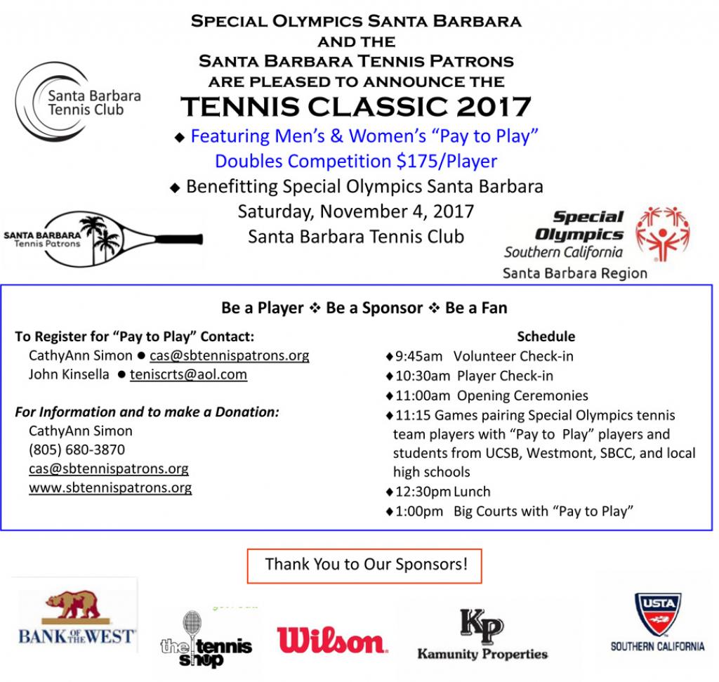 sb special olympics tennis classic santa barbara tennis santa barbara court calendar