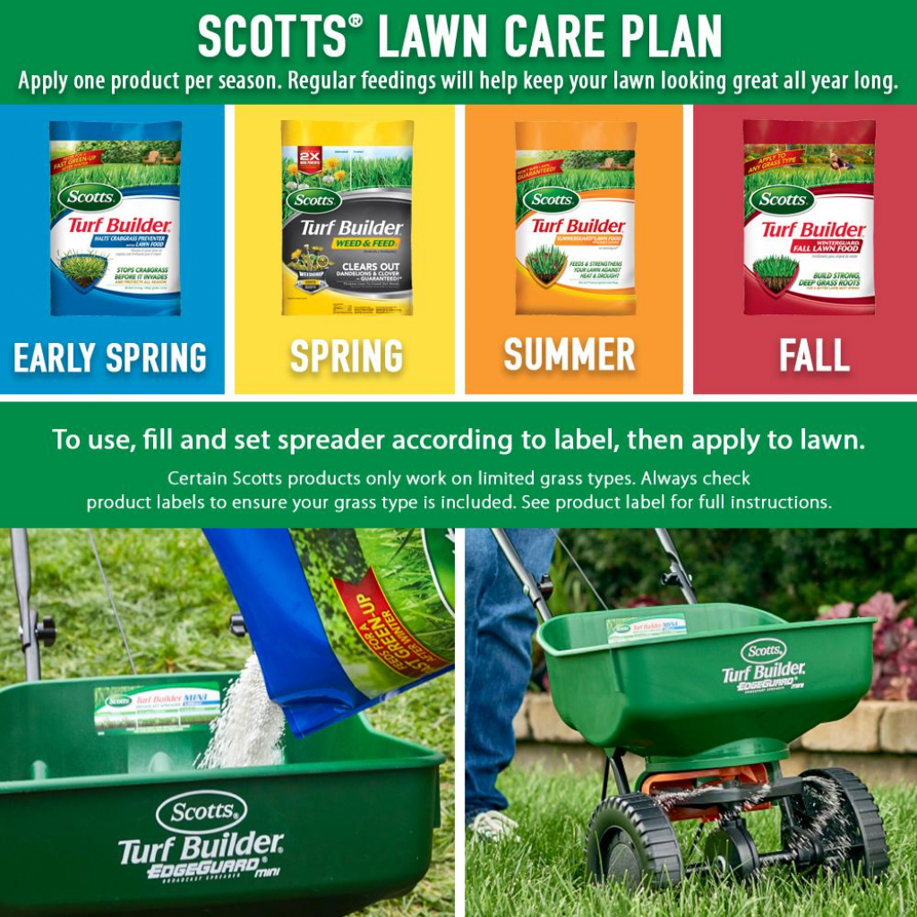 scotts 15000 sq ft northern lawn fertilizer program for bermuda bluegrass rye and tall fescue 4 bag scotts lawn planner 1