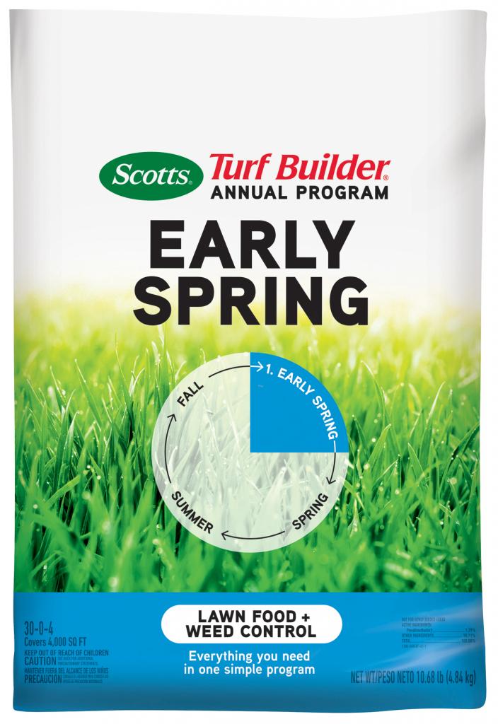 scotts turf builder annual program early spring scotts lawn treatment