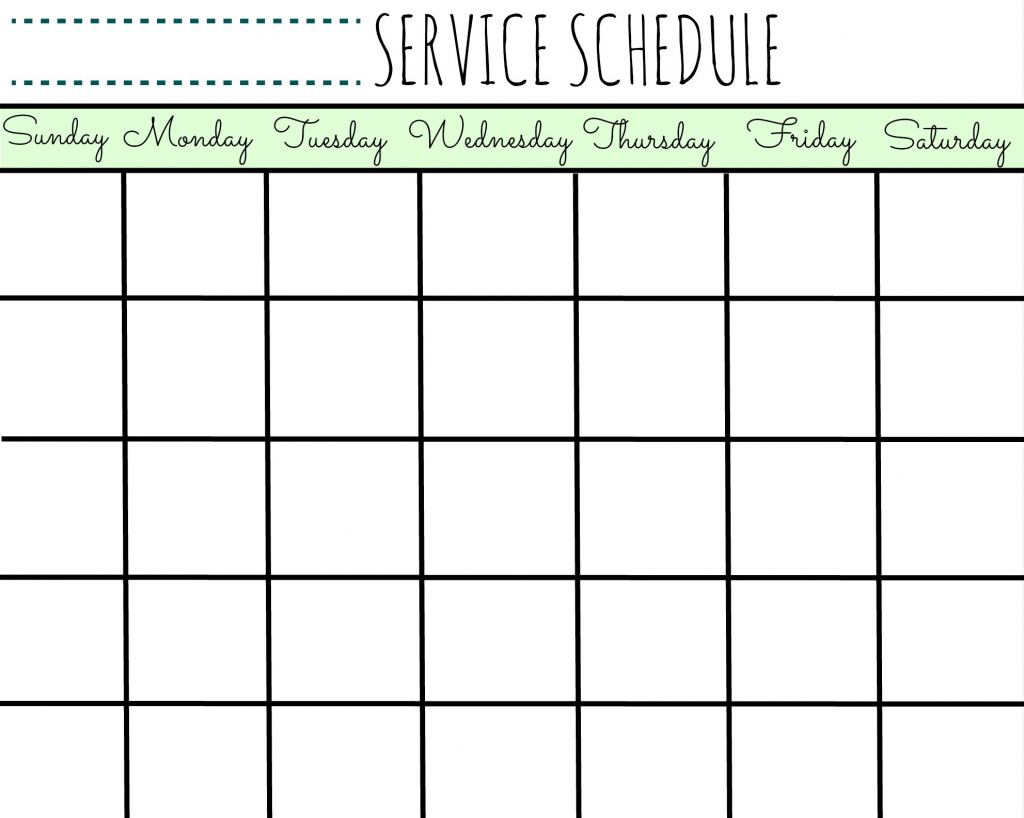 service schedule with make your own printable calendar with make my own calendar free