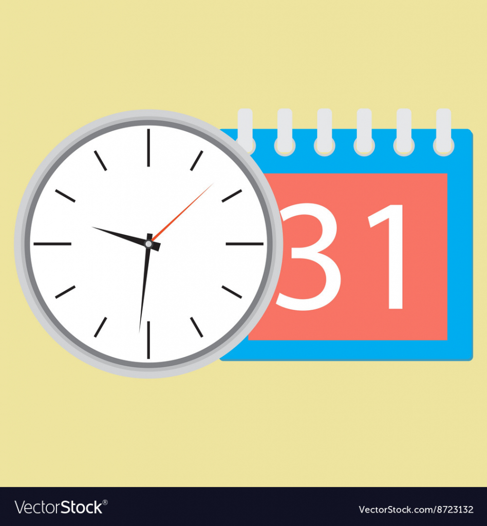 time planning clock with calendar date time date calendar