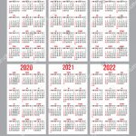 Vector Set Calendar Grids Years 20172022 Stock Vector Calenderv 10 Years