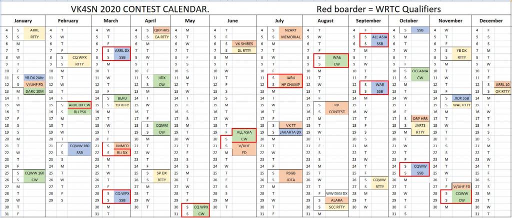 vk4sn contest calendar ham contest calendar