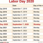 When Is Labor Day 2020 2021 Dates Of Labor Day Labor Day 2020 Calendar