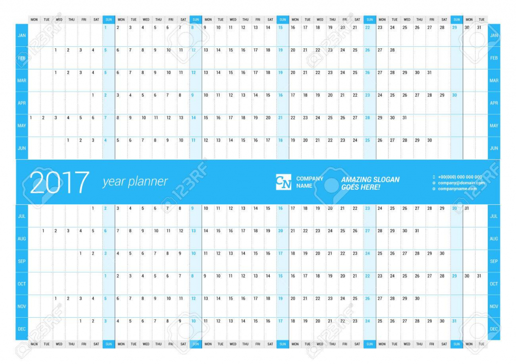 yearly wall calendar planner template for 2017 year vector design print template week starts monday 10 000 year calendar printable