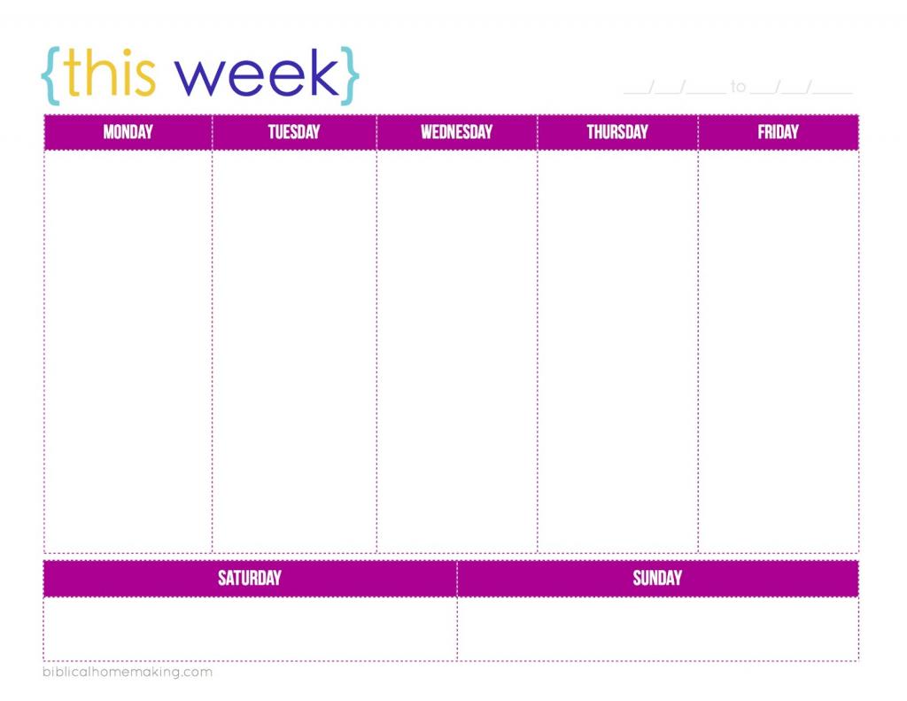 019 template ideas free printable daily calendar with time printable 1 week calendar
