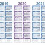 2019 2020 2021 Free Calendar Template 3 Year Calendar 3 Year Calendar Template