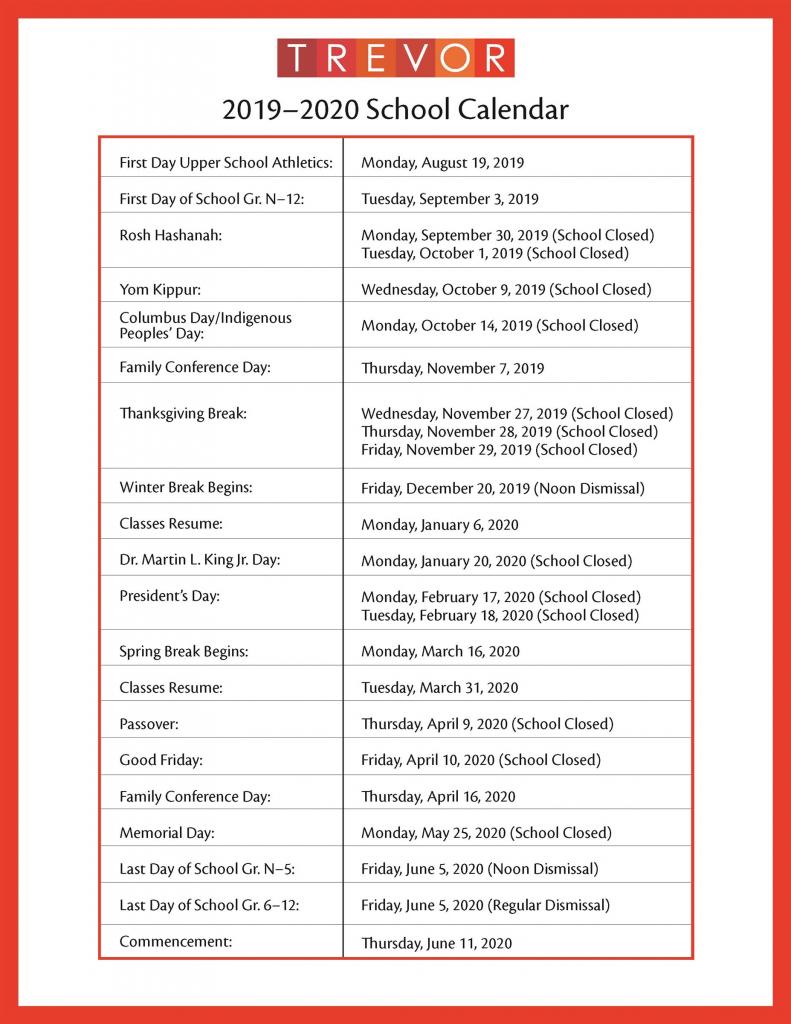 2019 2020 academic calendar a private coed school in new suny old westbury calendar 2020