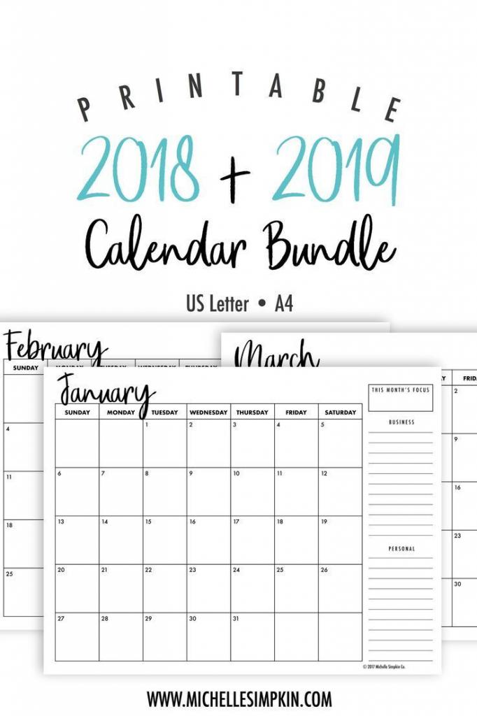 2019 2020 printable monthly calendars bundle landscape free lined monthly calendar 2020 printable