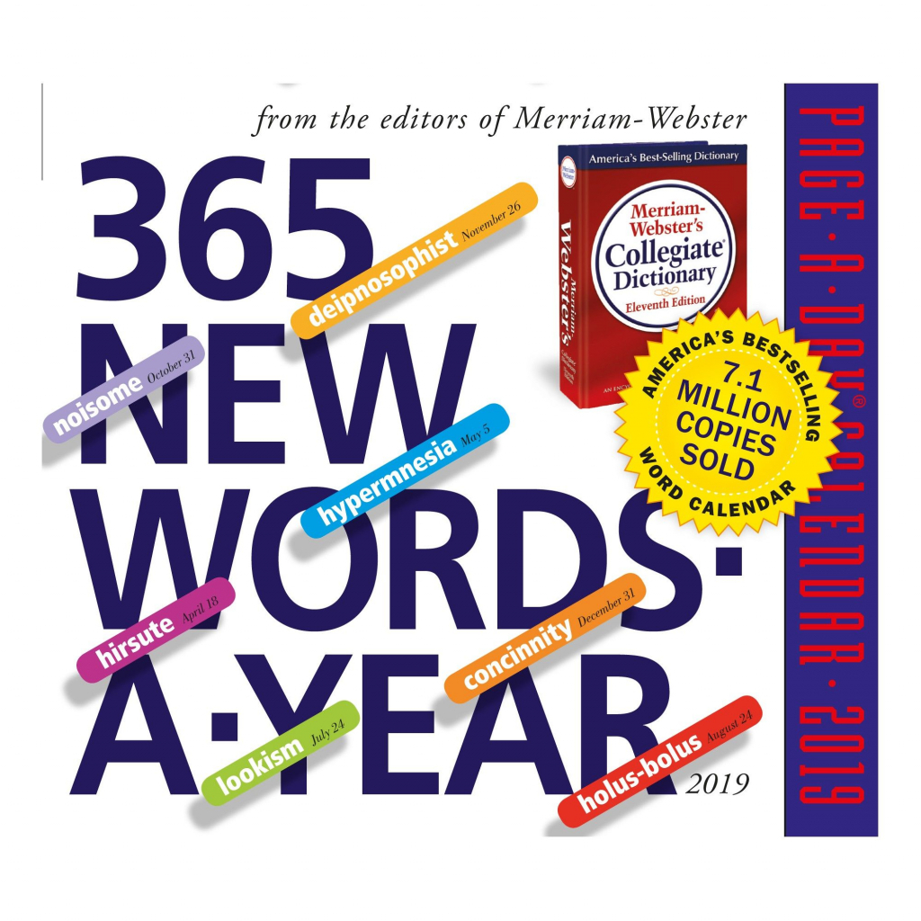 2019 new words page a day desktop calendar products new 365 day retirement calendar