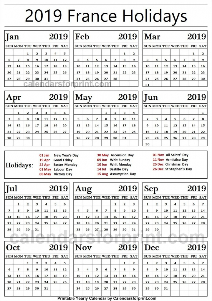 2019 public holidays france holidays france public print black out schedule for vacation