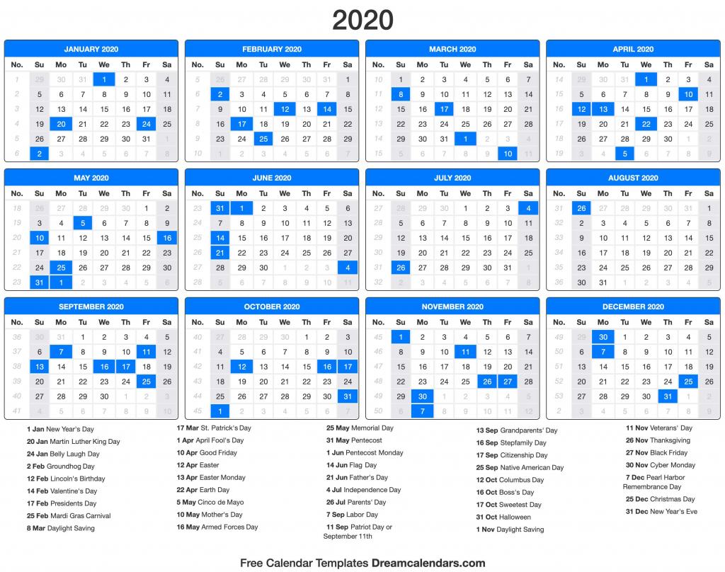 2020 calendar 2020 counting calendar days 1