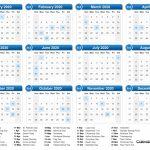 2020 Calendar 2020 Counting Calendar Days 2