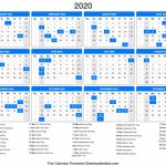 2020 Calendar Day Count Calendar 2020 1