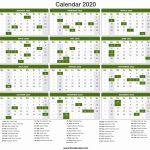 2020 Calendar Printable 2020 Calendar Day Count Calendar 2020