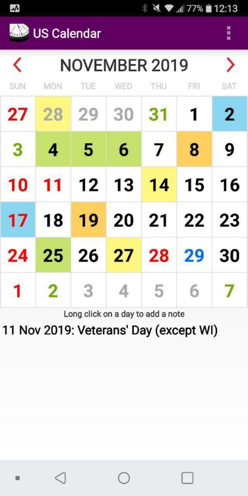 2020 us calendar with holidays and observances 5 year us calendar