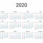 2020 Year Us Calendar Classical Minimalistic Simple Design 5 Year Us Calendar