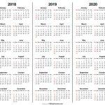 3 Year Calendar 2018 2019 2020 Printable Free Printable 3 Year Calendar Template