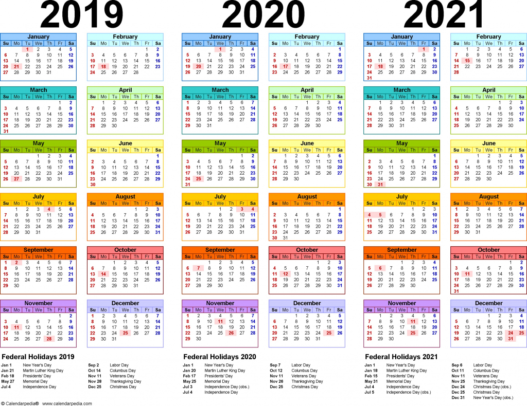 3 year calendar printable 2019 2020 2021 for all ages for images of 3 year calendars