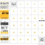 30 Day Printable Calendar Workout Calendar Goal Calendar A Blank 30 Day Calender Form