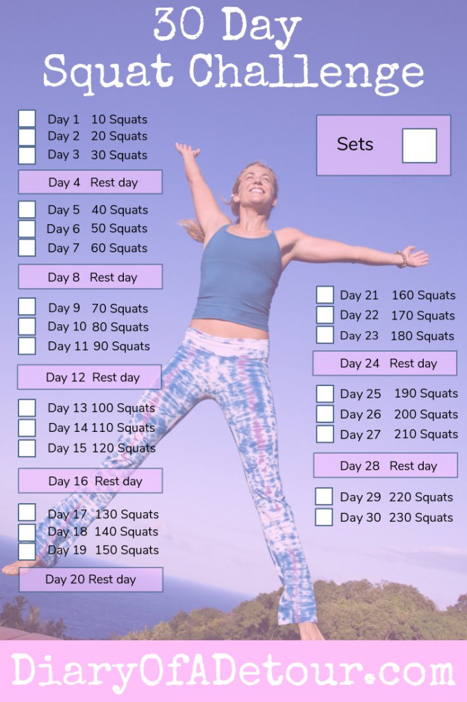 30 day squat challenge a fitness challenge for all abilities printable squat challenge