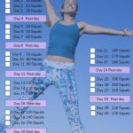 30 Day Squat Challenge A Fitness Challenge For All Printable Squat Challenge 1