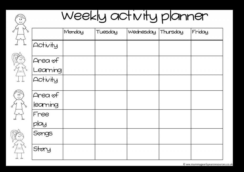 blank activity calendar template 28 templates also with kids activity calendar template