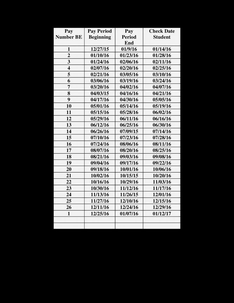 blank bi weekly payroll calendar templates at 2020 biweekly payroll calendar printable
