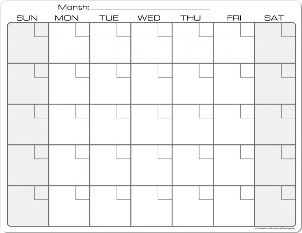 blank monthly calendar printable 85 x 11 monthly 8 5 by 11 printable generic calender