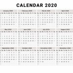 Calendar 2020 Free Printable Calendar 2020 Free 2020 Create My Own Calendar Free Printable 2020