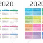 Calendar 2020 Template 12 Months Include Holiday Event Week 6 Week Holiday Calendar